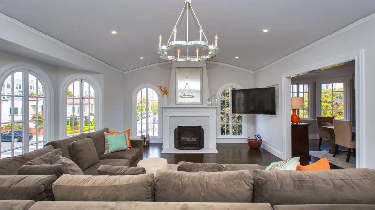 1927 Single Family Home Living Room