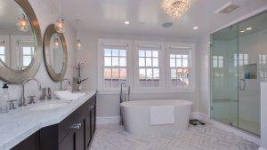 1927 Single Family Home Master Bathroom