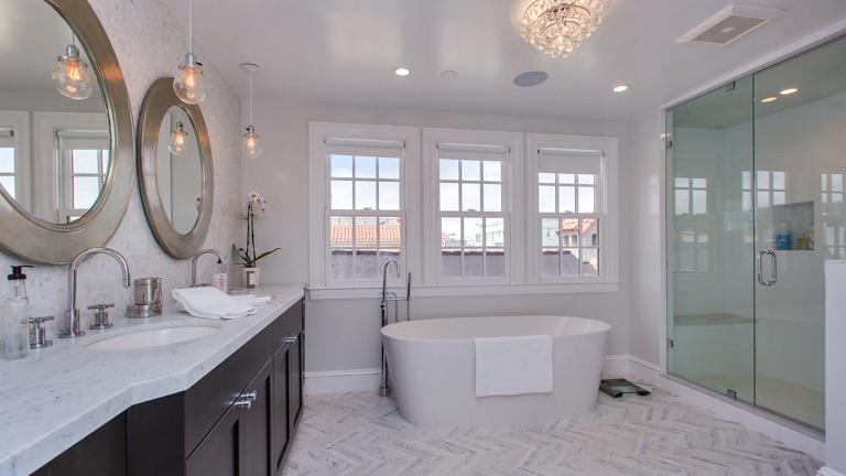 1927 Single Family Home Master Bathroom