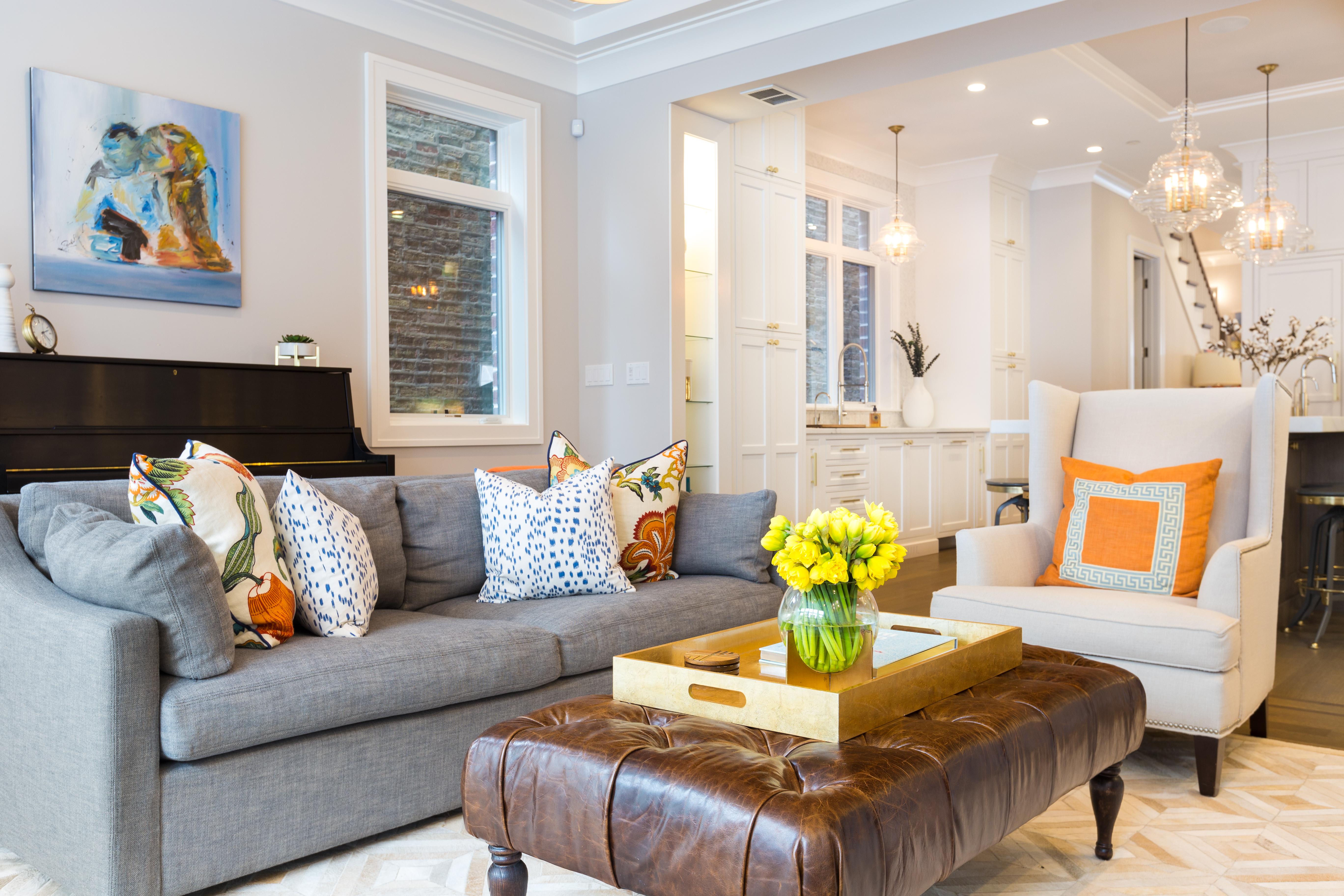 Lincoln Park Family Room | Avery Graham Interiors LLC
